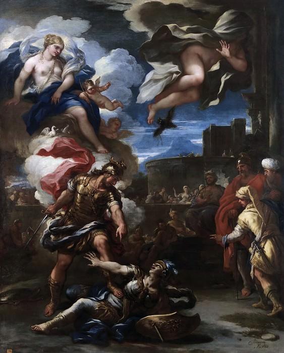 Giordano, Luca -- Turno vencido por Eneas. Part 3 Prado Museum