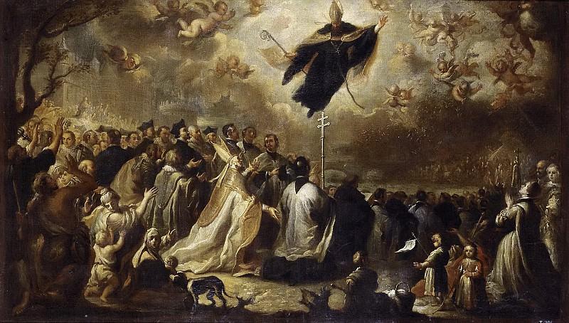 Meléndez, Miguel Jacinto -- San Agustín conjurando una plaga de langosta. Part 3 Prado Museum
