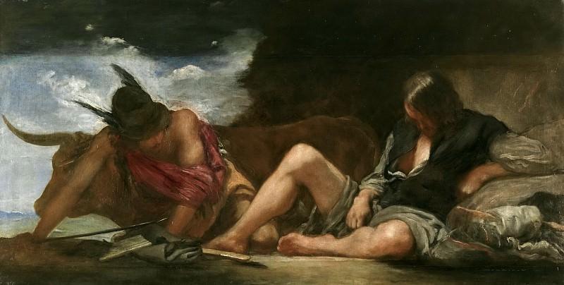 Velázquez, Diego Rodríguez de Silva y -- Mercurio y Argos. Part 3 Prado Museum