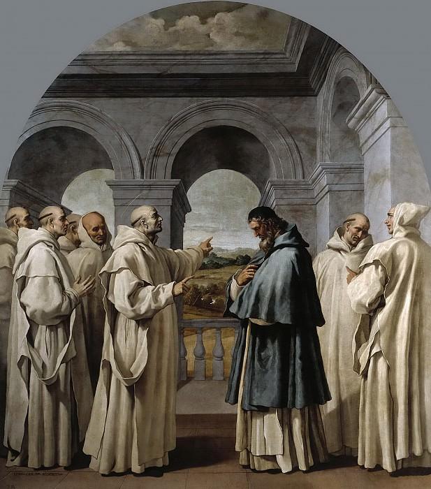 Carducho, Vicente -- San Bruno despide a San Hugo. Part 3 Prado Museum