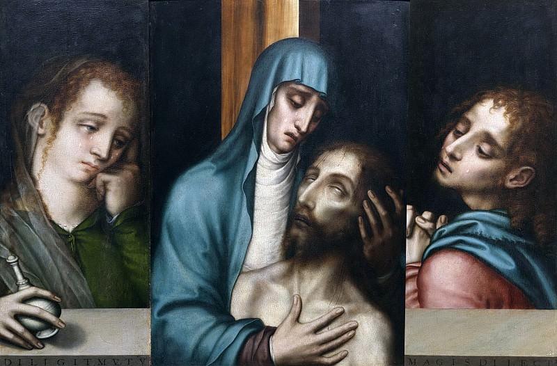 Моралес, Луис де -- Пьета со свв Марией Магдалиной и Иоанном. Часть 3 Музей Прадо