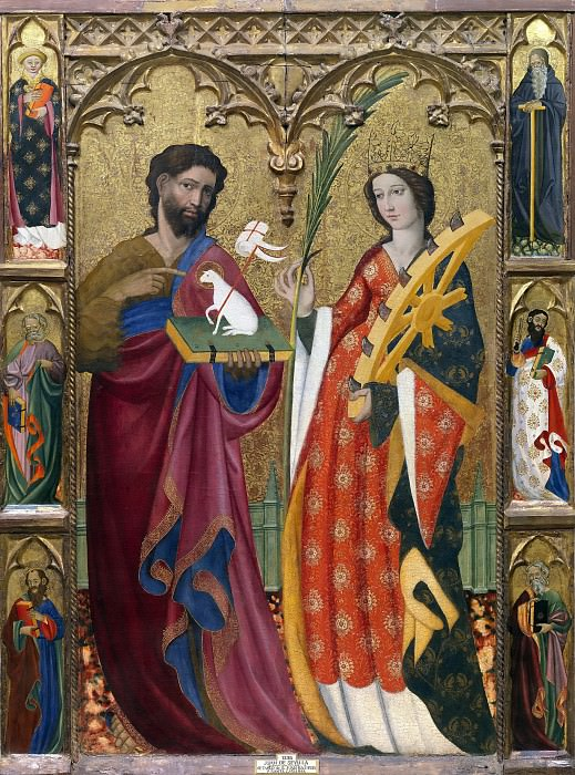 Sevilla, Juan de -- Retablo de San Juan Bautista y Santa Catalina. Part 3 Prado Museum