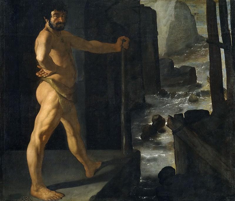 Zurbarán, Francisco de -- Hércules desvía el curso del río Alfeo. Part 3 Prado Museum