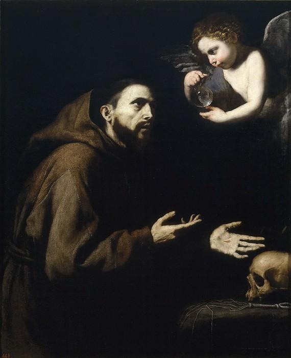 Ribera, José de -- Visión de San Francisco de Asís. Part 3 Prado Museum