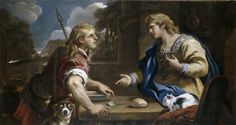 Giordano, Luca -- Esaú y Jacob (El cambio de la primogenitura). Part 3 Prado Museum