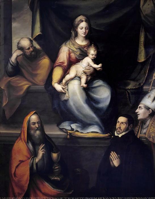 Прадо, Блас де -- Святое семейство со св Ильдефонсо, Иоанном Евангелистом и Алонсо де Вильегас. Часть 3 Музей Прадо