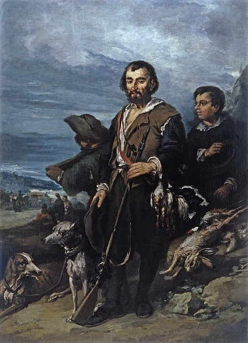 Lucas Velázquez, Eugenio -- El cazador. Part 3 Prado Museum