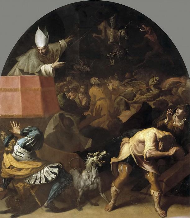 Carducho, Vicente -- Esteban de Châtillon, obispo de Die, predicando al pueblo. Part 3 Prado Museum