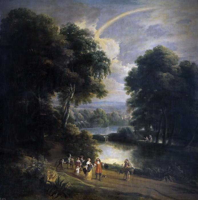 Arthois, Jacques d -- Paseo a la orilla de un río. Part 3 Prado Museum