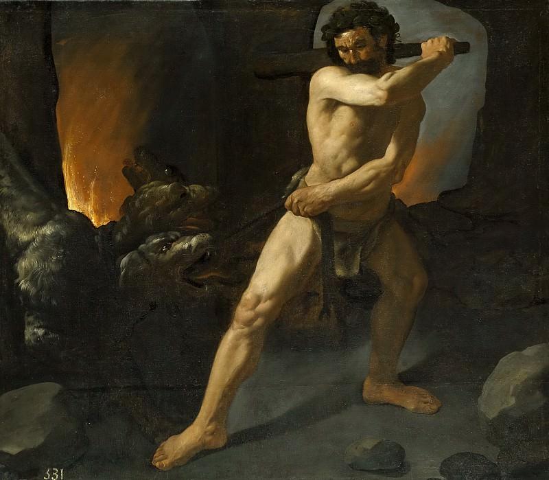 Zurbarán, Francisco de -- Hércules y el Cancerbero. Part 3 Prado Museum