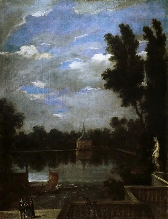 Martínez del Mazo, Juan Bautista -- El Estanque Grande del Buen Retiro. Part 3 Prado Museum