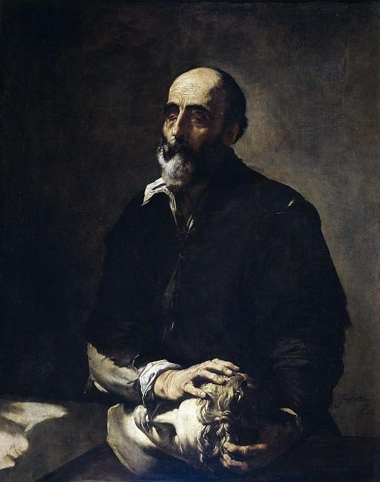 Ribera, José de -- El escultor ciego, o Alegoría del Tacto. Part 3 Prado Museum