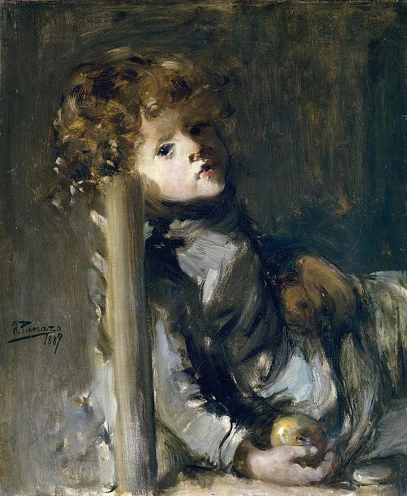 Pinazo Camarlench, Ignacio -- Ignacio, hijo del artista, sentado. Part 3 Prado Museum