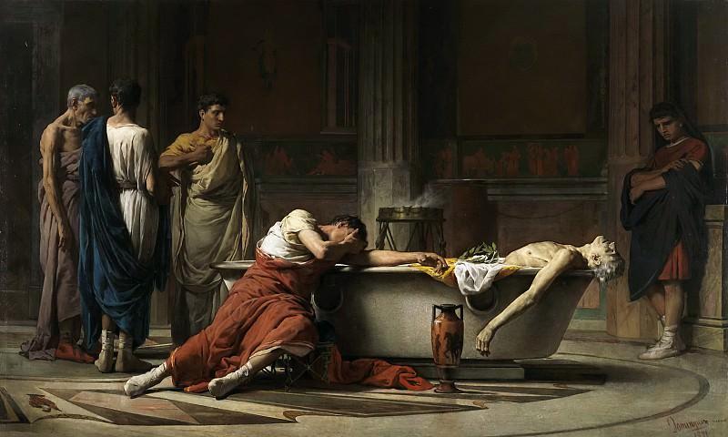 Домингес Санчес, Мануэль -- Смерть Сенеки. Часть 3 Музей Прадо