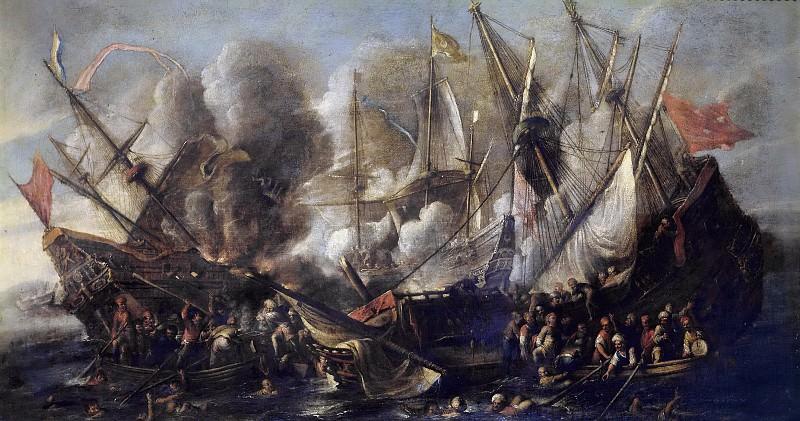 Валь, Корнелис де -- Кораблекрушение. Часть 3 Музей Прадо