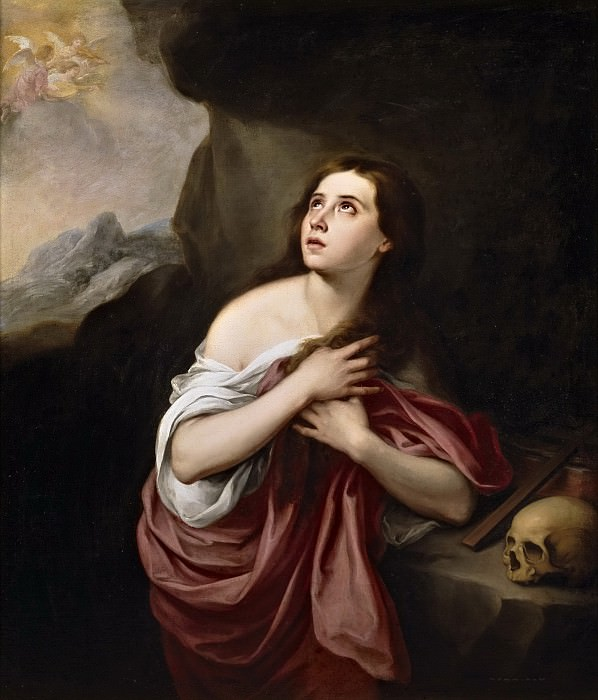 Murillo, Bartolomé Esteban (Copia) -- Magdalena penitente. Part 3 Prado Museum