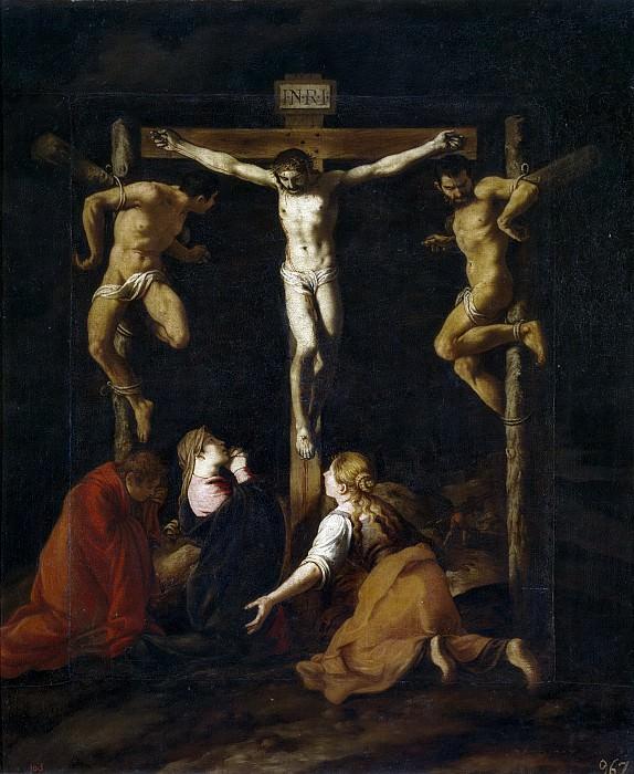 Orrente, Pedro de -- La Crucifixión. Part 3 Prado Museum