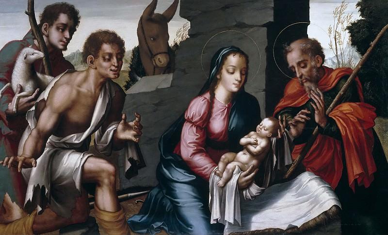 Morales, Luis de -- La Adoración de los pastores. Part 3 Prado Museum