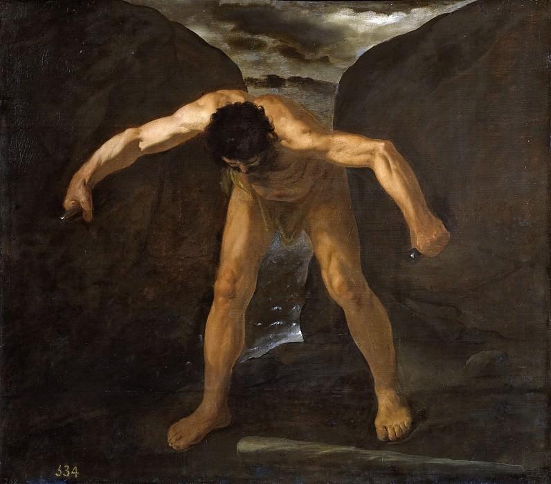 Zurbarán, Francisco de -- Hércules separa los montes Calpe y Abyla. Part 3 Prado Museum