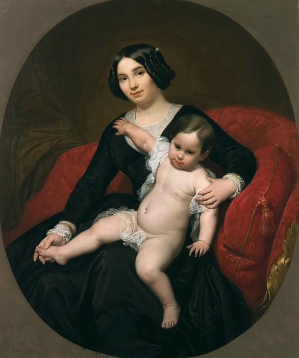 Ribera y Fieve, Carlos Luis de -- Retrato de dama con su hijo. Part 3 Prado Museum