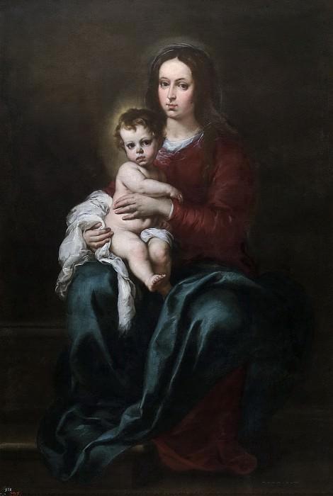 Мурильо, Бартоломе Эстебан -- Мадонна с младенцем. Часть 3 Музей Прадо