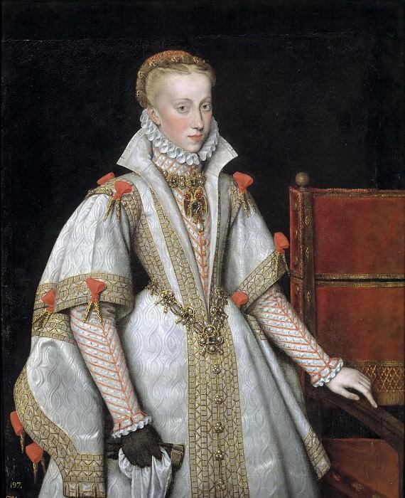 González, Bartolomé (Copia Moro, Antonio) -- La reina Ana de Austria, cuarta esposa de Felipe II. Part 3 Prado Museum