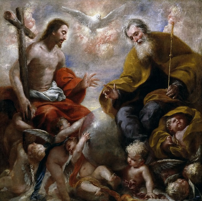 Caro, Francisco (Atribuido a) -- La Santísima Trinidad. Part 3 Prado Museum