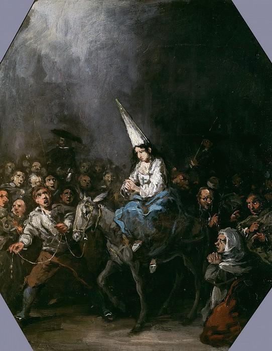 Lucas Velázquez, Eugenio -- Condenada por la Inquisición. Part 3 Prado Museum