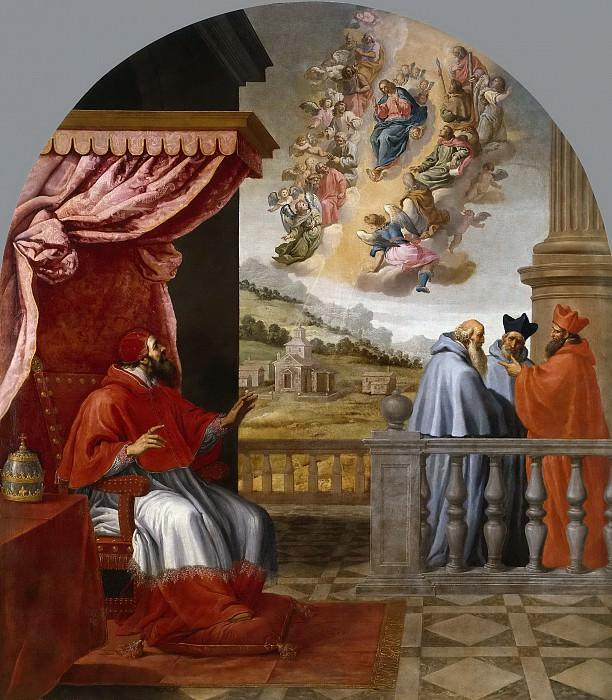 Carducho, Vicente -- Visión del papa Victor III. Part 3 Prado Museum