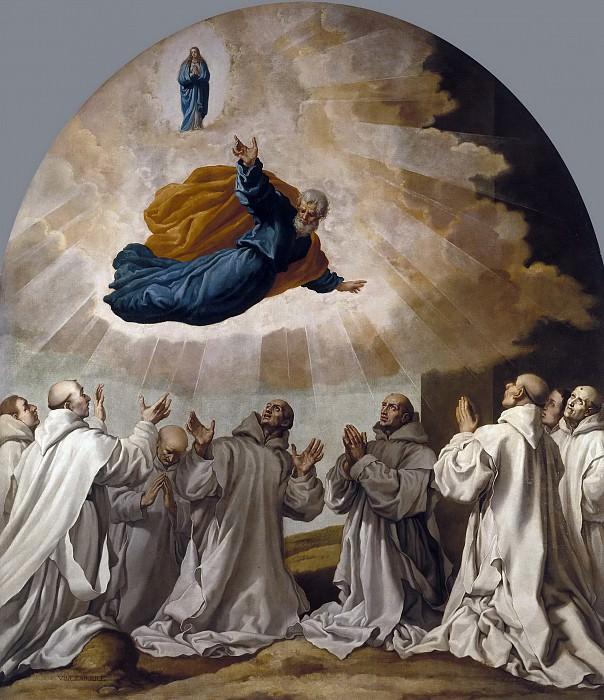 Carducho, Vicente -- La Virgen María y San Pedro se aparecen a los primeros cartujos. Part 3 Prado Museum