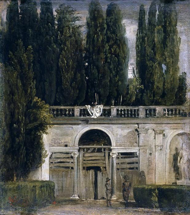 Vista del jardín de la Villa Medici en Roma. Diego Rodriguez De Silva y Velazquez