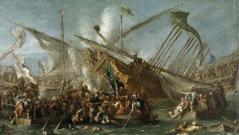 Wael, Cornelis de -- Abordaje. Part 3 Prado Museum