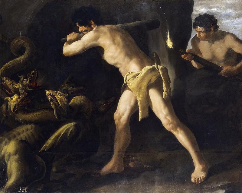 Zurbarán, Francisco de -- Lucha de Hércules con la Hidra de Lerna. Part 3 Prado Museum