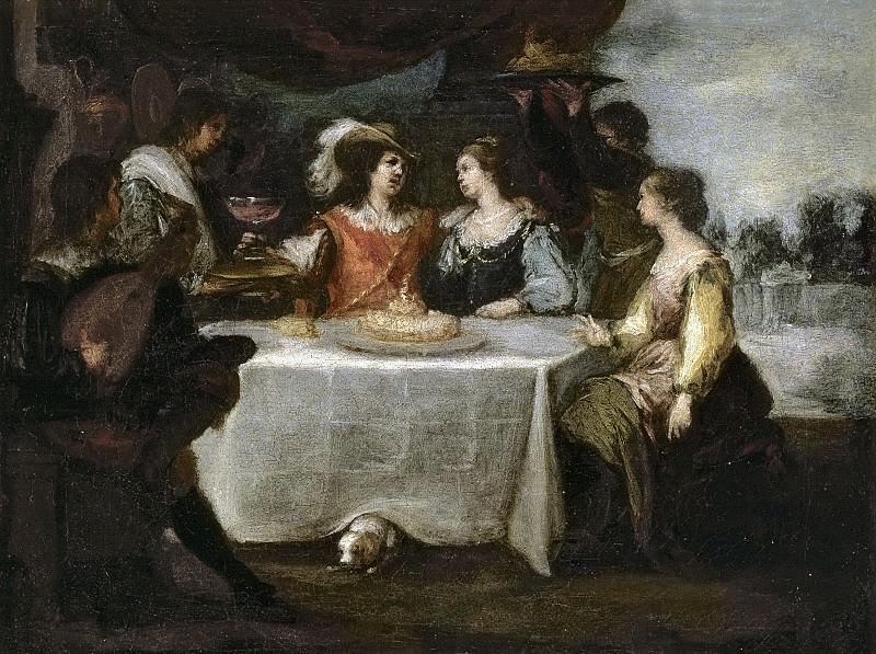 Murillo, Bartolomé Esteban -- La disipación del hijo pródigo. Part 3 Prado Museum