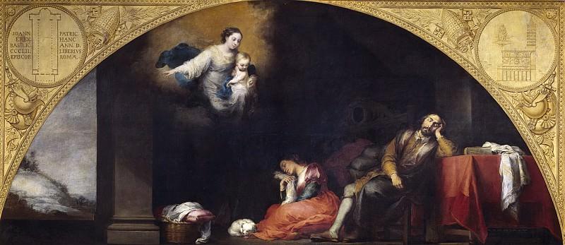 Murillo, Bartolomé Esteban -- Fundación de Santa María Maggiore de Roma: I. El sueño del patricio Juan. Part 3 Prado Museum