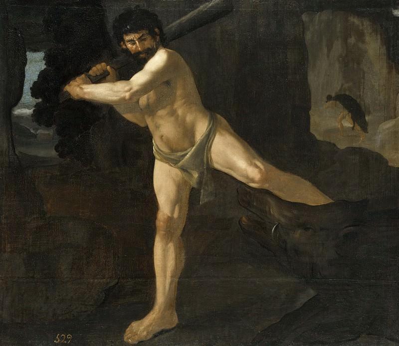 Zurbarán, Francisco de -- Lucha de Hércules con el jabalí de Erimanto. Part 3 Prado Museum
