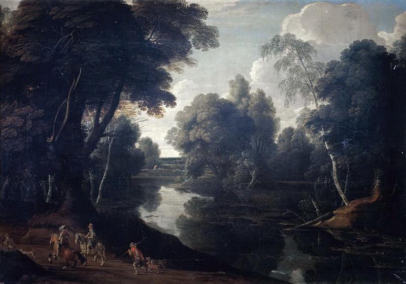 Arthois, Jacques d -- Paisaje bañado por un río. Part 3 Prado Museum