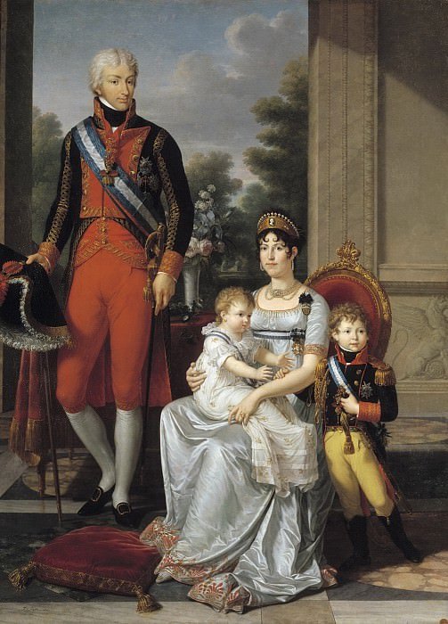 Fabre, François-Xavier -- La familia de los reyes de Etruria. Part 3 Prado Museum