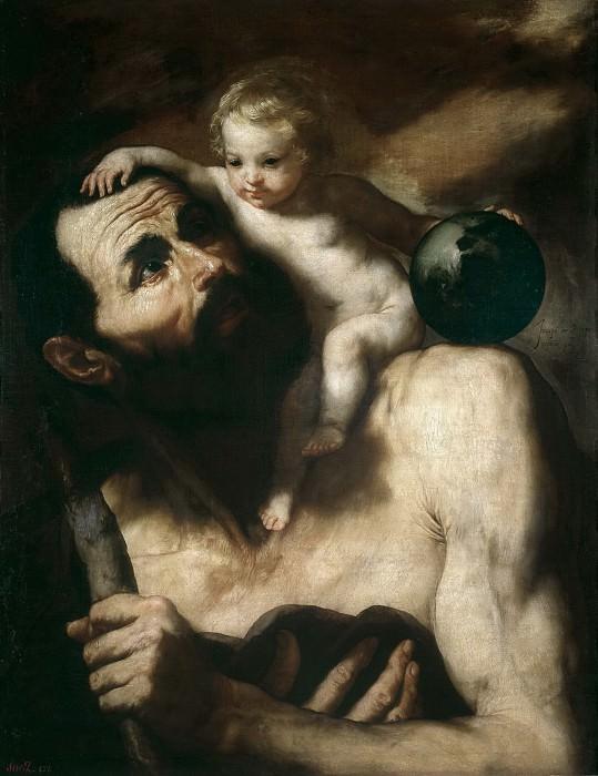 Ribera, José de -- San Cristóbal. Part 3 Prado Museum