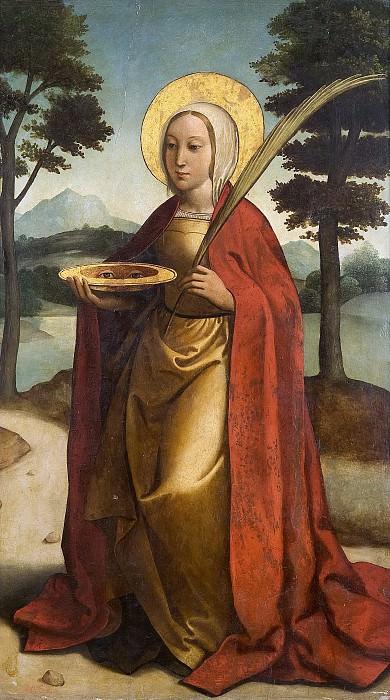 Anónimo (Círculo de Borgoña, Juan de) -- Santa Lucía. Part 3 Prado Museum