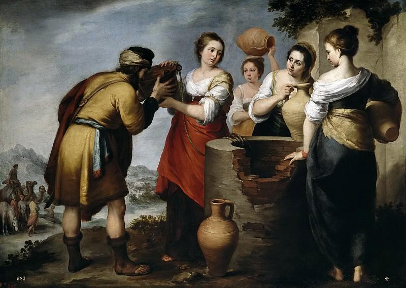 Murillo, Bartolomé Esteban -- Rebeca y Eliezer. Part 3 Prado Museum