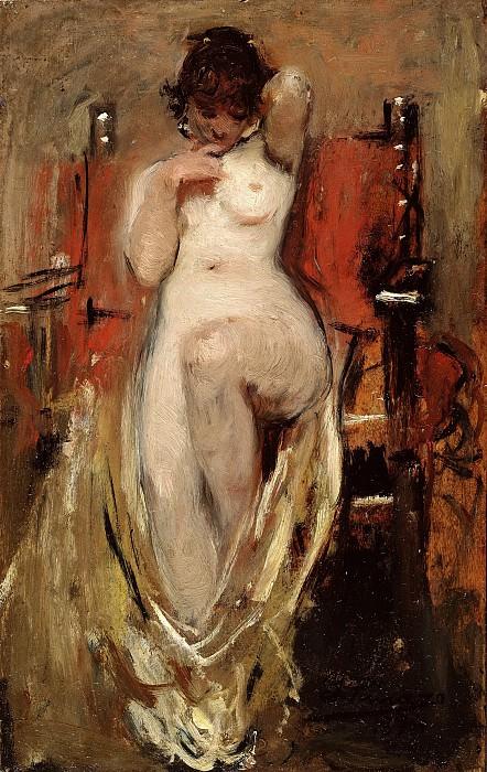Pinazo Camarlench, Ignacio -- Desnudo femenino. Part 3 Prado Museum