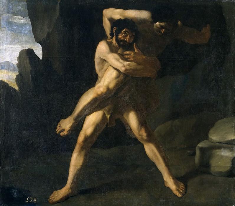Zurbarán, Francisco de -- Hércules luchando con Anteo. Part 3 Prado Museum
