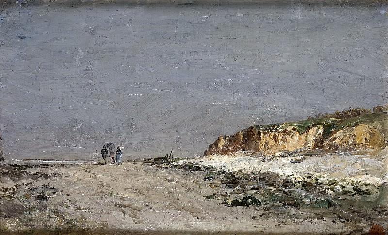 Haes, Carlos de -- Playa de Villerville. Part 3 Prado Museum