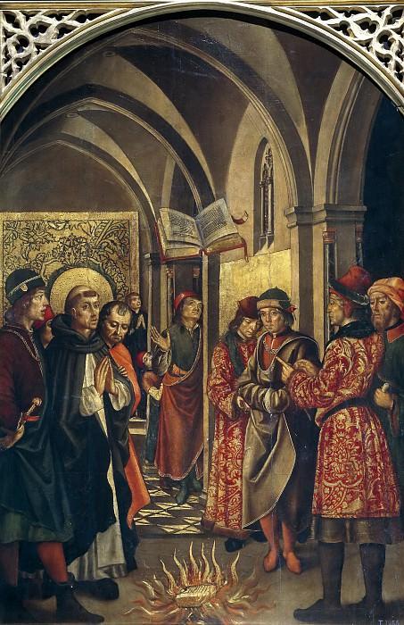 Berruguete, Pedro -- La prueba del fuego (Santo Domingo y los albigenses). Part 3 Prado Museum