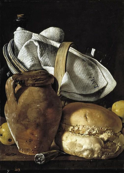 Мелендес, Луис Эгидио -- Натюрморт с хлебом и кувшином. Часть 3 Музей Прадо