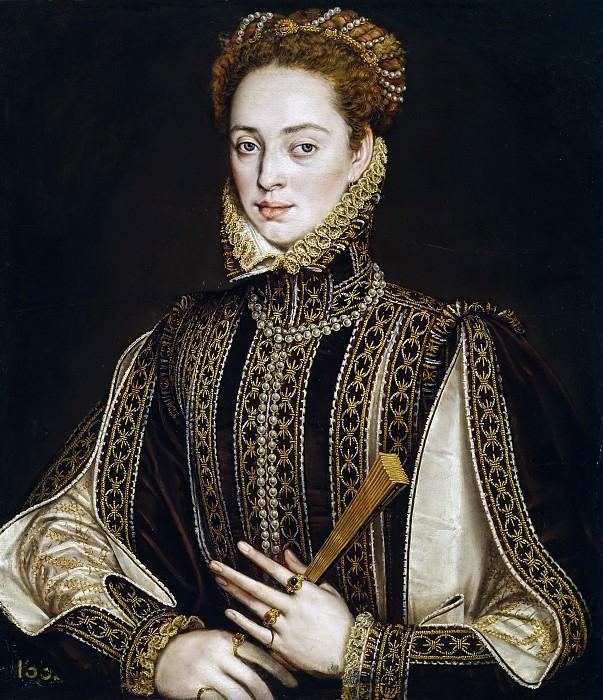 Sánchez Coello, Alonso -- La dama del abanico. Part 3 Prado Museum