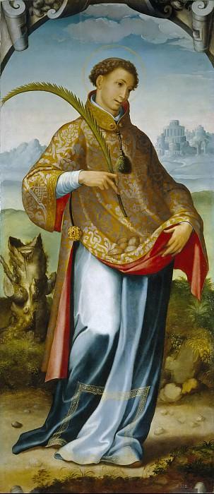 Correa de Vivar, Juan -- San Esteban / Imposición de la casulla a San Ildefonso. Part 3 Prado Museum