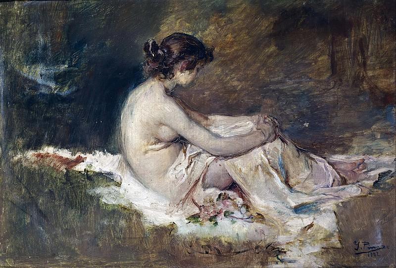 Pinazo Camarlench, Ignacio -- Desnudo de mujer. Part 3 Prado Museum