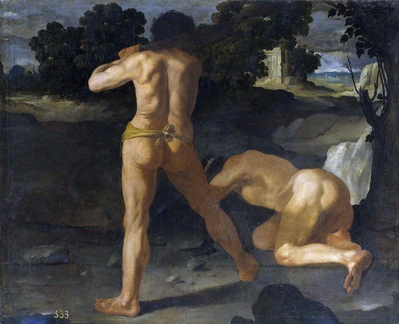 Zurbarán, Francisco de -- Hércules vence al rey Gerión. Part 3 Prado Museum